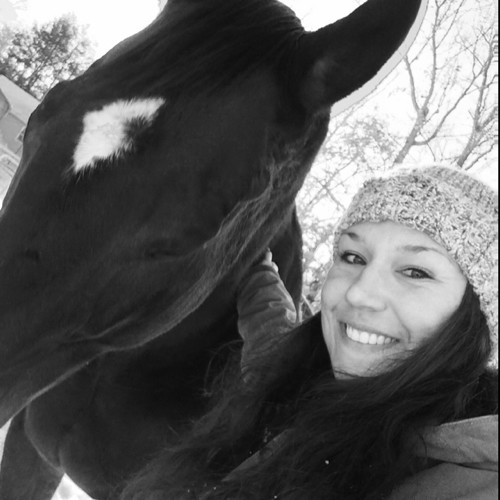 Photo of Alexis Baney and a horse